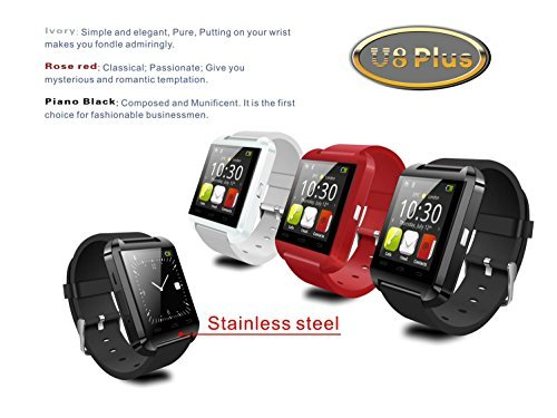 SUNDREAM-U8-Plus-Reloj-Bluetooth-40-tctil-inteligente-para-Android-IOS-Iphone-Samsung-Galaxy-HTCEs-el-companero-del-movil-Negro-0-3