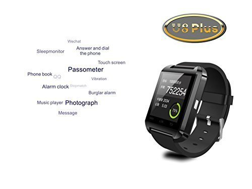 SUNDREAM-U8-Plus-Reloj-Bluetooth-40-tctil-inteligente-para-Android-IOS-Iphone-Samsung-Galaxy-HTCEs-el-companero-del-movil-Negro-0