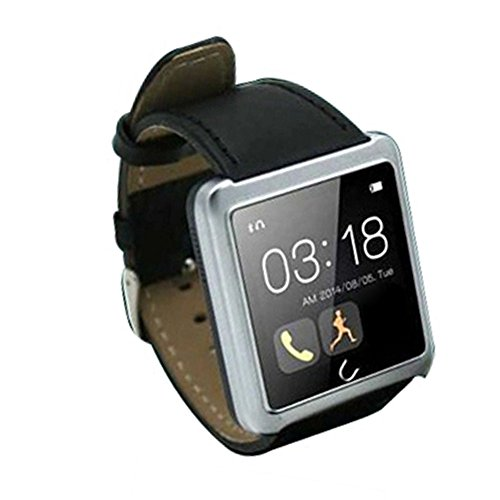 Vktech-Smarwatch-Impermable-Bluetooth-Pulsera-Inteligente-para-Moviles-Android-IOS-Plateado-0