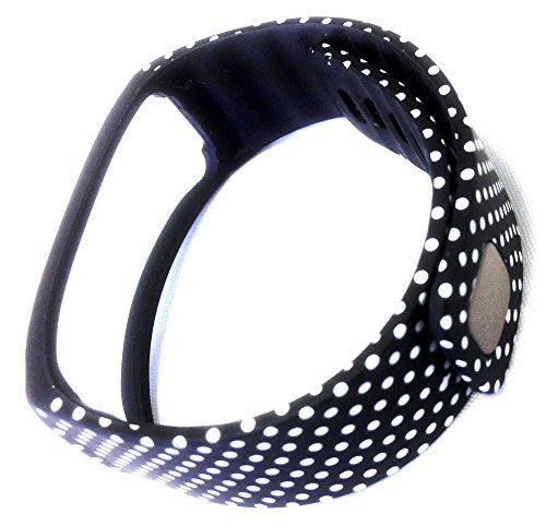 1pc Replacement Black with White Dots Spots Band & Metal Clasp For Samsung  Galaxy Gear Fit Bracelet Smart Wristband Wireless Activity Bracelet Sport